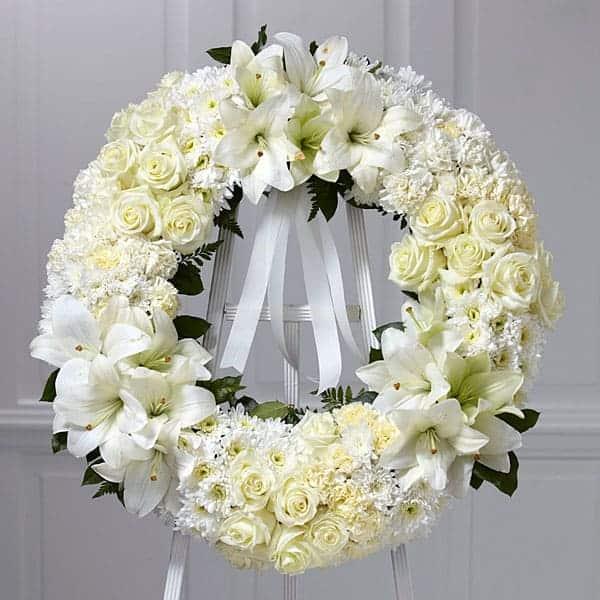 Ảnh vòng hoa chia buồn đám tang