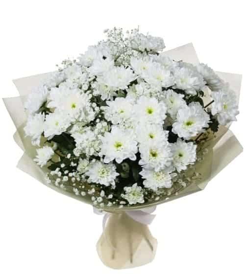 Hoa cúc và hoa baby tặng bạn gái