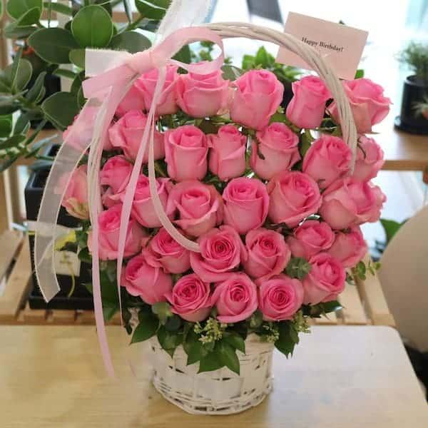 Giỏ hoa hồng sinh nhật đẹp nhất