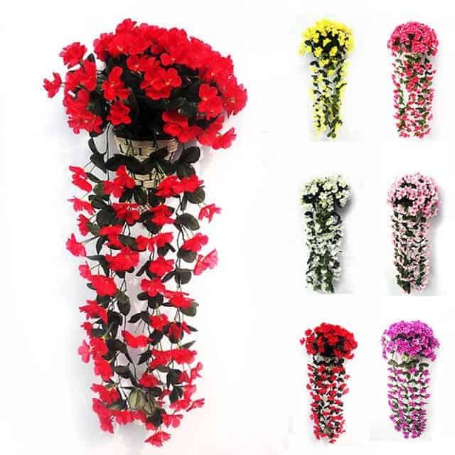 Giỏ hoa sáp treo tường đẹp