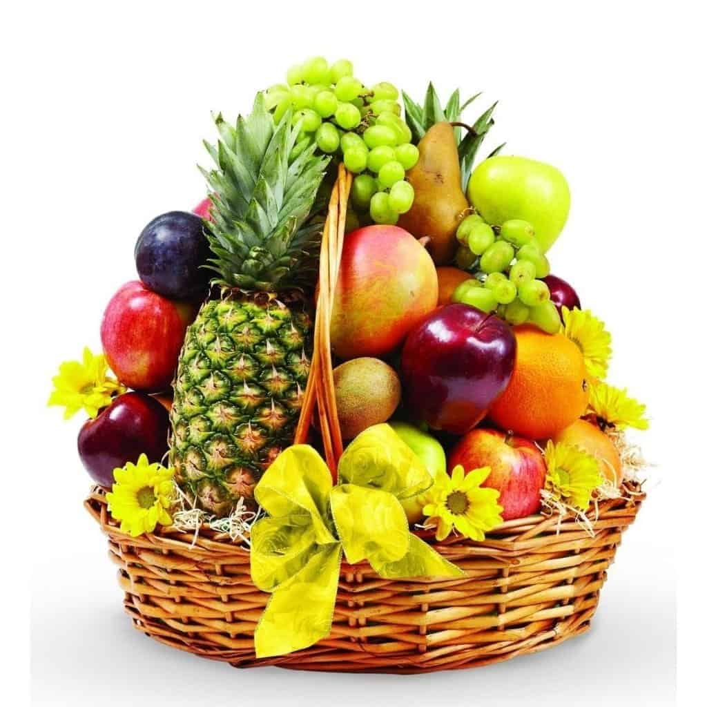 Giỏ hoa trái cây mừng khai trương
