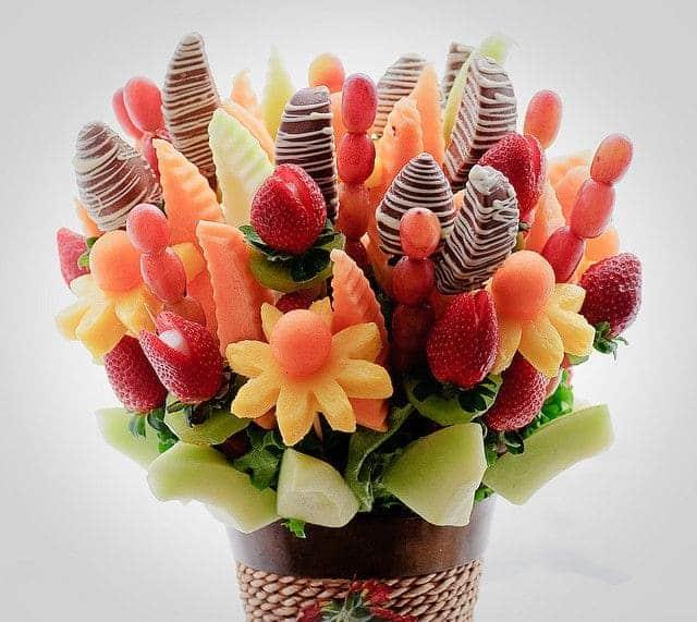 Giỏ hoa trái cây tươi ngon tuyệt
