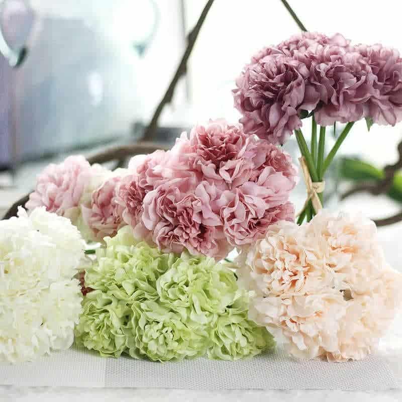 Hoa cẩm chướng làm bằng cao su non