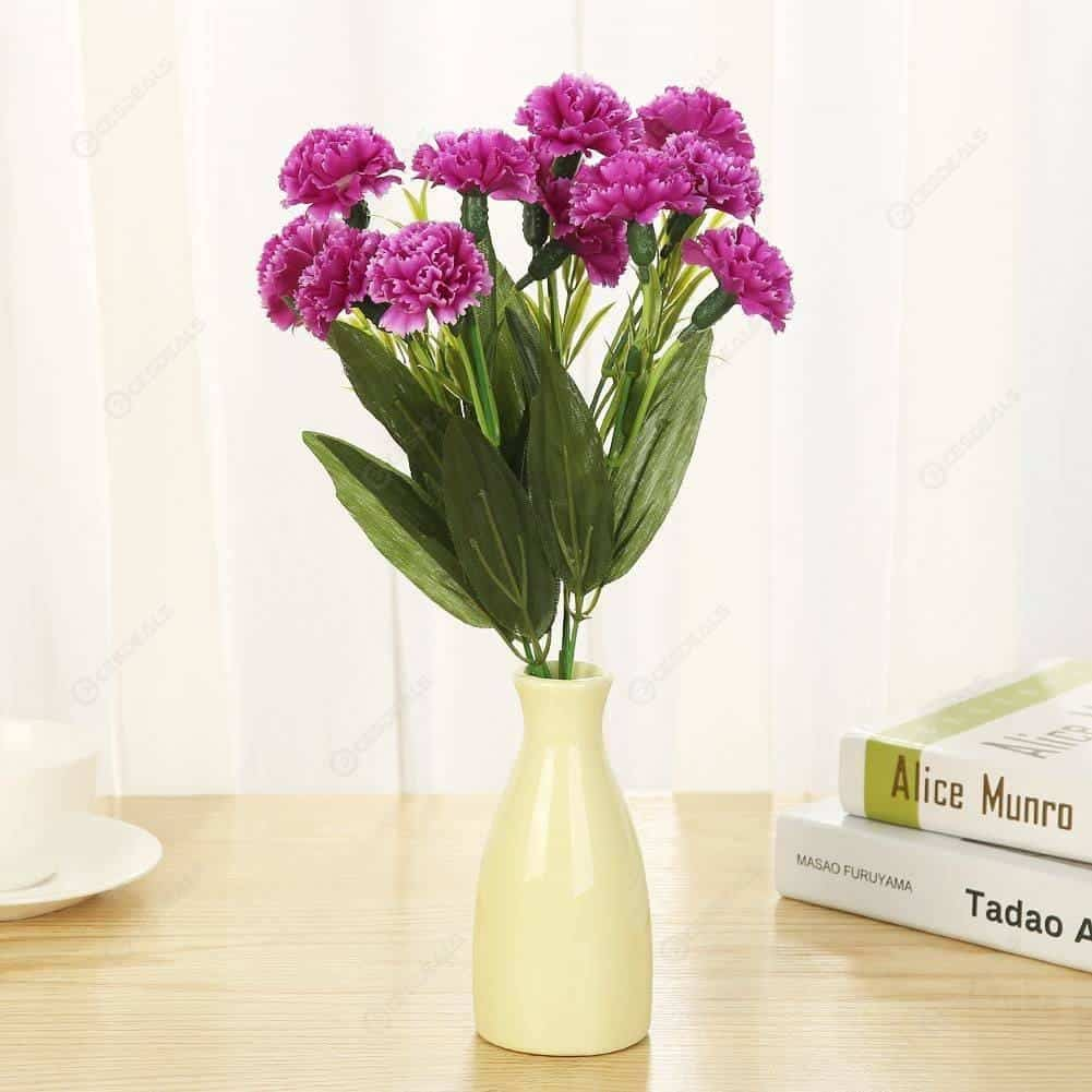 Hoa mẩu đơn giả bằng cao su non không thua gì hoa thật